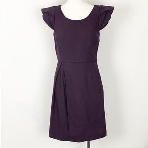 J. Crew Wool Eggplant / Purple Sheath Dress